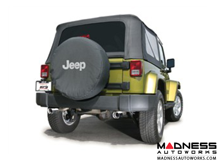 Jeep Wrangler JK (2-door) - Performance Exhaust by Borla - Cat-Back Exhaust - Touring (2007-2011)