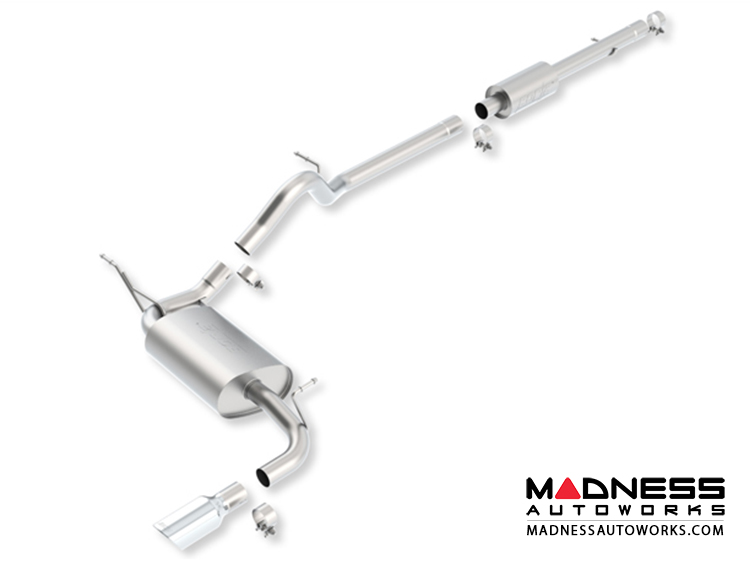 Jeep Wrangler JK (4-door) - Performance Exhaust by Borla - Cat-Back Exhaust - Touring (2012-2014)