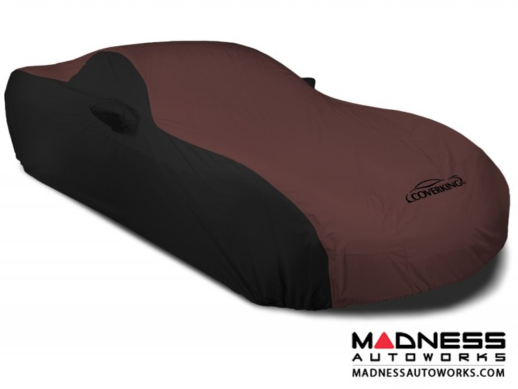 Alfa Romeo 4C Custom Vehicle Cover - Stormproof - Black w/ Wine