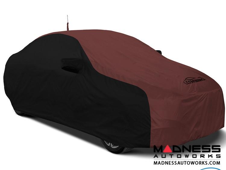 Alfa Romeo Stelvio Custom Vehicle Cover - Stormproof - Black w/ Wine + Shark Fin Antenna Pocket