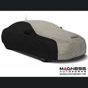 Alfa Romeo Stelvio Custom Vehicle Cover - Stormproof - Black w/ Gray + Shark Fin Antenna Pocket