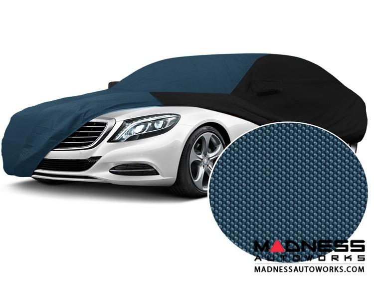 Alfa Romeo Giulia Custom Vehicle Cover - Stormproof - Black w/ Blue Center w/o Side View Mirror Pockets