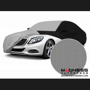 Alfa Romeo Giulia Custom Vehicle Cover - Stormproof - Black w/ Gray Center w/o Side View Mirror Pockets