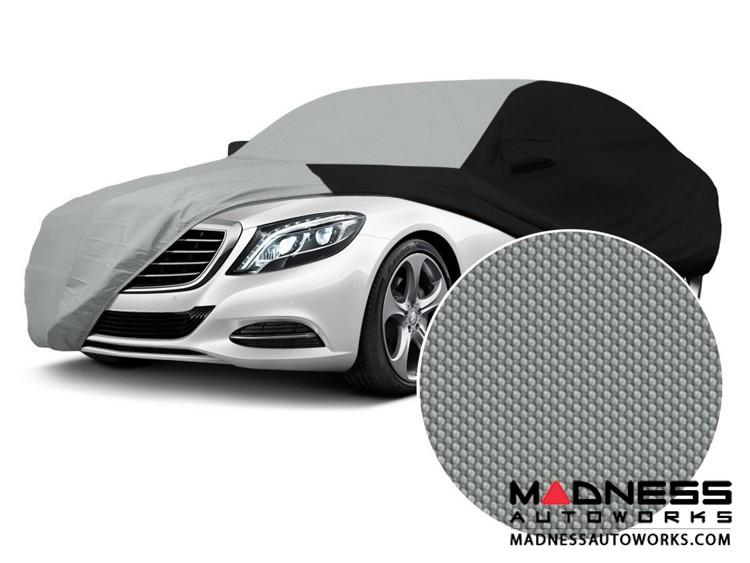 Alfa Romeo Giulia Custom Vehicle Cover - Stormproof - Black w/ Gray Center w/o Side View Mirror Pockets