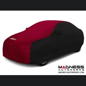 Alfa Romeo Giulia Custom Vehicle Cover - Stormproof - Black w/ Red Center w/o Side View Mirror Pockets