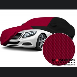 Alfa Romeo Giulia Custom Vehicle Cover - Stormproof - Black w/ Red Center w/o Side View Mirror Pockets