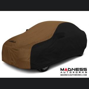 Alfa Romeo Giulia Custom Vehicle Cover - Stormproof - Black w/ Tan Center w/o Side View Mirror Pockets