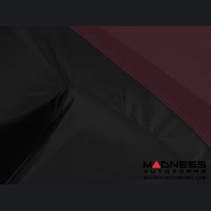 Alfa Romeo Giulia Custom Vehicle Cover - Stormproof - Black w/ Wine Center w/o Side View Mirror Pockets