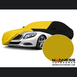 Alfa Romeo Giulia Custom Vehicle Cover - Stormproof - Black w/ Yellow Center w/o Side View Mirror Pockets