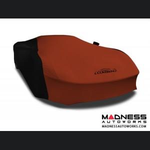 Alfa Romeo 4C Custom Vehicle Cover - Indoor Satin Stretch - Black w/Go Mango Orange