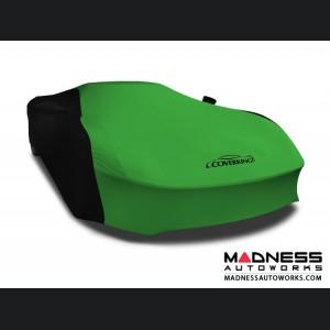 Alfa Romeo 4C Custom Vehicle Cover - Indoor Satin Stretch - Black w/Synergy Green