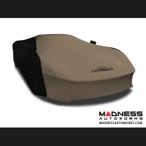 Alfa Romeo 4C Custom Vehicle Cover - Indoor Satin Stretch - Black w/Sahara Tan