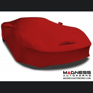 Alfa Romeo 4C Custom Vehicle Cover - Indoor Satin Stretch - Ruby Red