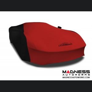 Alfa Romeo 4C Custom Vehicle Cover - Indoor Satin Stretch - Black w/Ruby Red