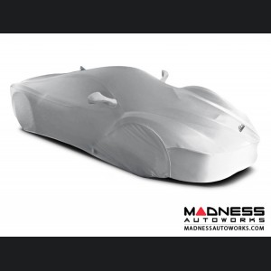 Alfa Romeo 4C Custom Vehicle Cover - Indoor Satin Stretch - White Satin