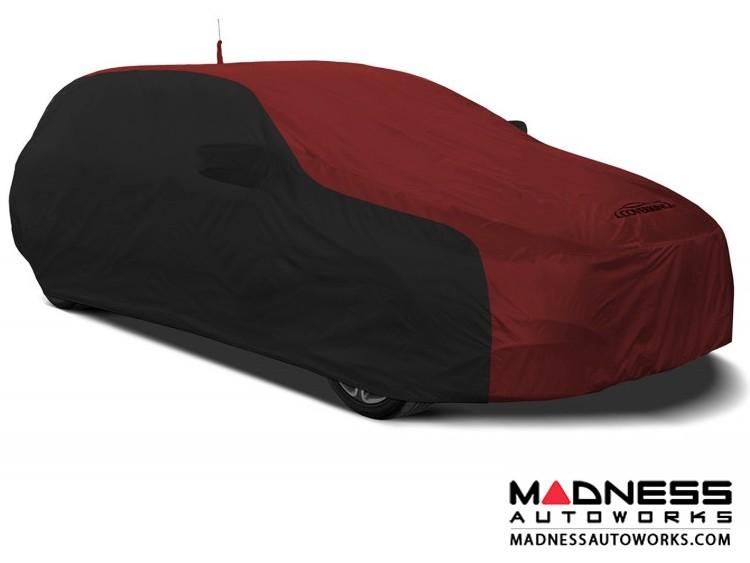 Alfa Romeo Stelvio Custom Vehicle Cover - Stormproof - Black w/ Red + Shark Fin Antenna Pocket