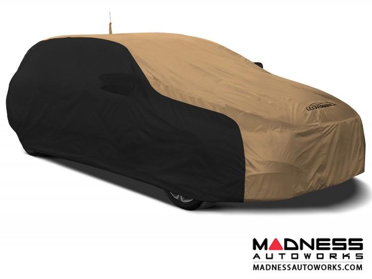 Alfa Romeo Stelvio Custom Vehicle Cover - Stormproof - Black w/ Tan + Shark Fin Antenna Pocket