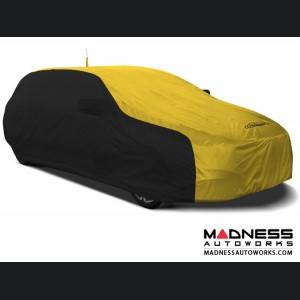 Alfa Romeo Stelvio Custom Vehicle Cover - Stormproof - Black w/ Yellow + Shark Fin Antenna Pocket