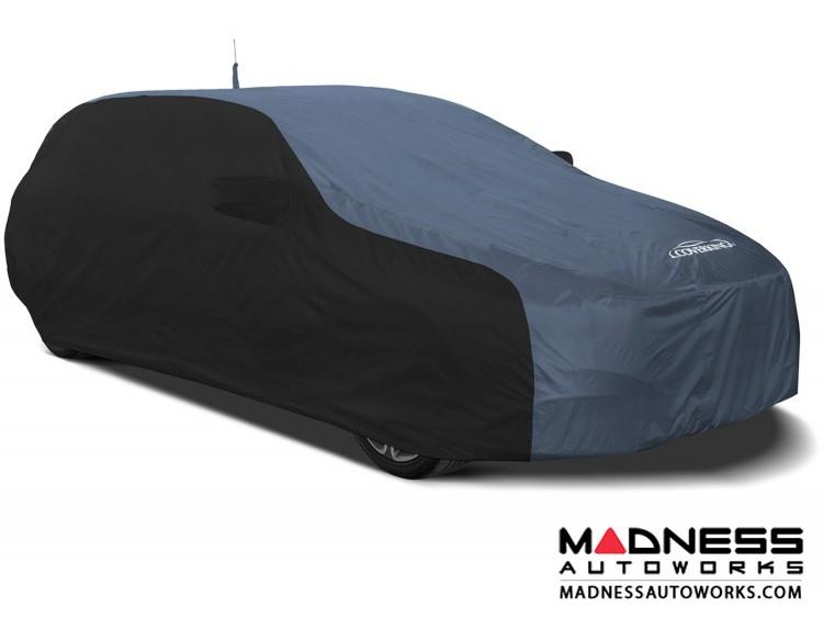 Alfa Romeo Stelvio Custom Vehicle Cover - Stormproof - Black w/ Blue + Shark Fin Antenna Pocket