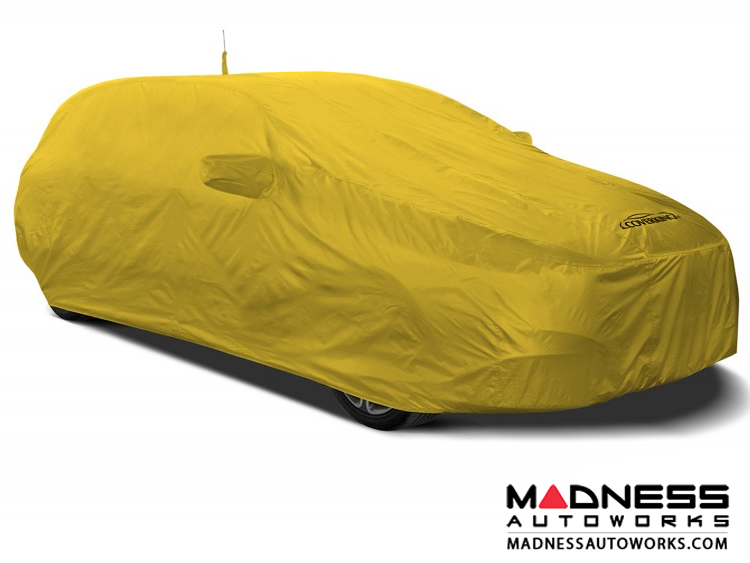 Alfa Romeo Stelvio Custom Vehicle Cover - Stormproof - Yellow - Shark Fin Antenna Pocket