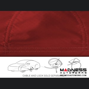 Alfa Romeo Stelvio Custom Vehicle Cover - Stormproof - Red + Shark Fin Antenna Pocket