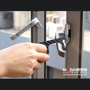 No Touch Door Opener/ Contactless Button Tool - Carbon Fiber - Keychain
