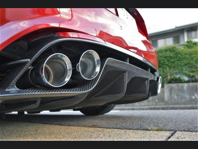 Alfa Romeo Giulia Rear Diffuser - Quadrifoglio - Carbon Fiber - Italian Flag