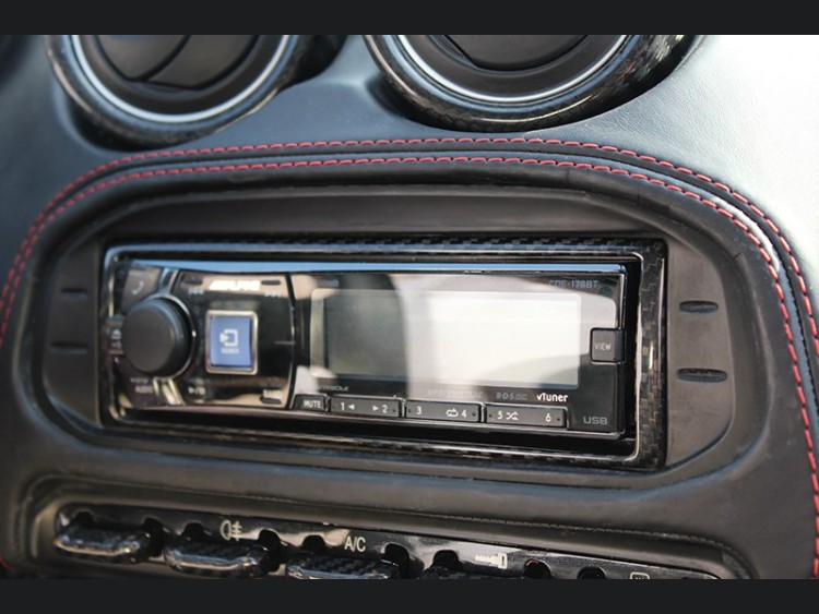 Alfa Romeo 4C Carbon Fiber Radio Bezel