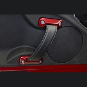 Alfa Romeo 4C Carbon Fiber Interior Door Handle Trim Set - Red