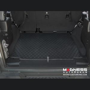 Jeep Wrangler JL Cargo Mat - Black w/ Black Stitching