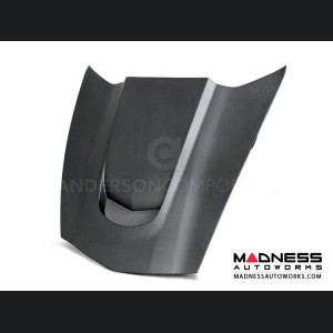 Chevrolet Corvette Carbon Fiber Hood - Stingray C7 - Anderson Composites - Dry Carbon