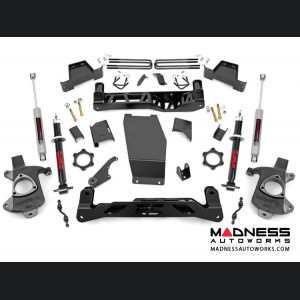 "Chevy Silverado 1500 4WD Suspension Lift Kit w/ Lifted Struts - 7"" Lift - Aluminum & Stamped Control Arms"