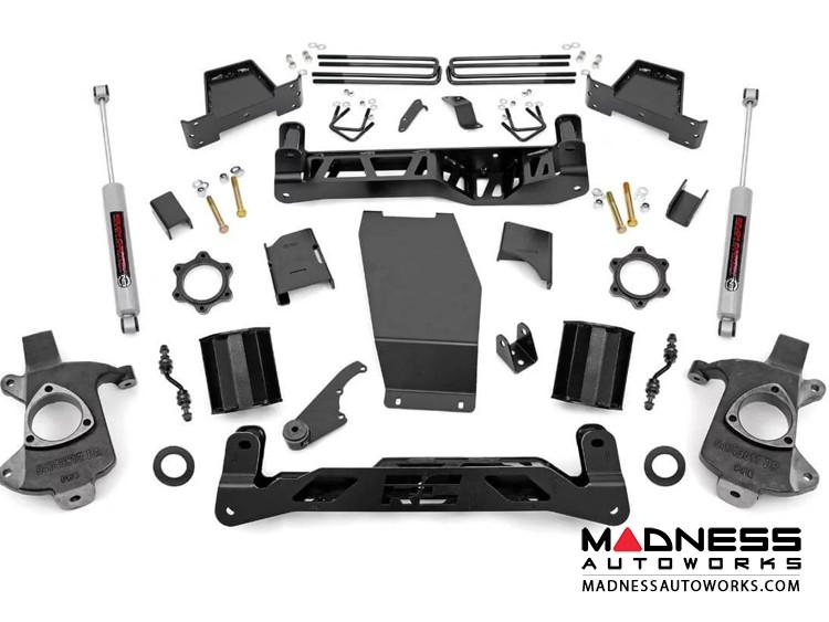 "Chevy Silverado 1500 4WD Suspension Lift Kit w/ N3 Shocks - 7"" Lift - Aluminum Stamped Steel"