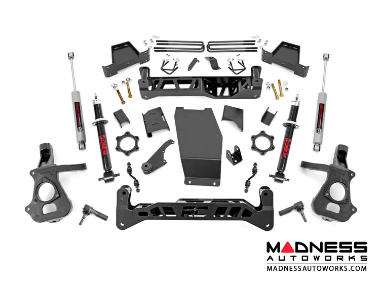 "Chevy Silverado 1500 4WD Suspension Lift Kit w/ N3 Shocks - 7"" Lift - Cast Steel Control Arms"