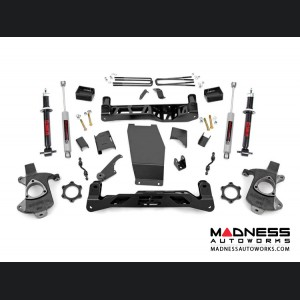 "Chevy Silverado 1500 4WD Suspension Lift Kit w/ N3 Shocks & Struts - 5"" Lift - Aluminum Stamped Steel"