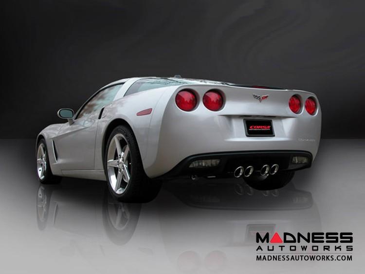 Chevrolet Corvette Exhaust System - Corsa Performance - C6 6.2L - Axle Back