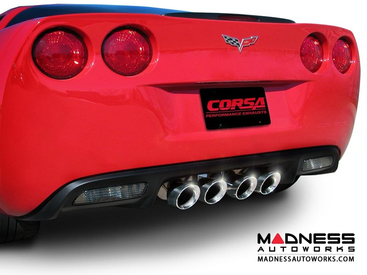 Chevrolet Corvette Exhaust System - Corsa Performance - 6.2L - Extreme Series - Axle Back - Coupe or Convertible