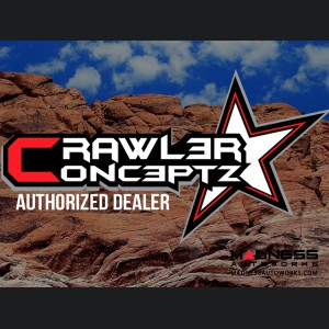 Jeep Wrangler JK by Crawler Conceptz - Ultra Series JK Front Bumper with Bar - Raw