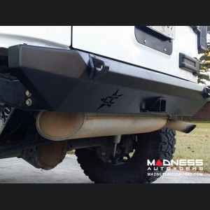 Jeep Wrangler JK by Crawler Conceptz - Skinny Series Rear Bumper w/ Hitch and Tabs