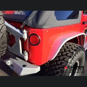 Jeep Wrangler JK by Crawler Conceptz -  Ultra Series JK 4-Door Rear Corner Armor with Welded-on Flare