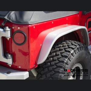 Jeep Wrangler JK by Crawler Conceptz -  Ultra Series JK 4-Door Rear Corner Armor with Welded-on Flare