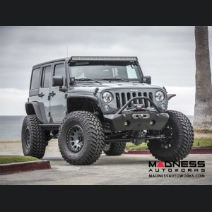 Jeep Wrangler JK by Crawler Conceptz - Ultra Series JK Front Bumper w/ Recessed Winch Mount w/ Bar & Tabs