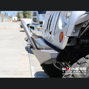 Jeep Wrangler JK by Crawler Conceptz - Skinny Series Front Bumper w/ Fogs, Bar, and Tabs