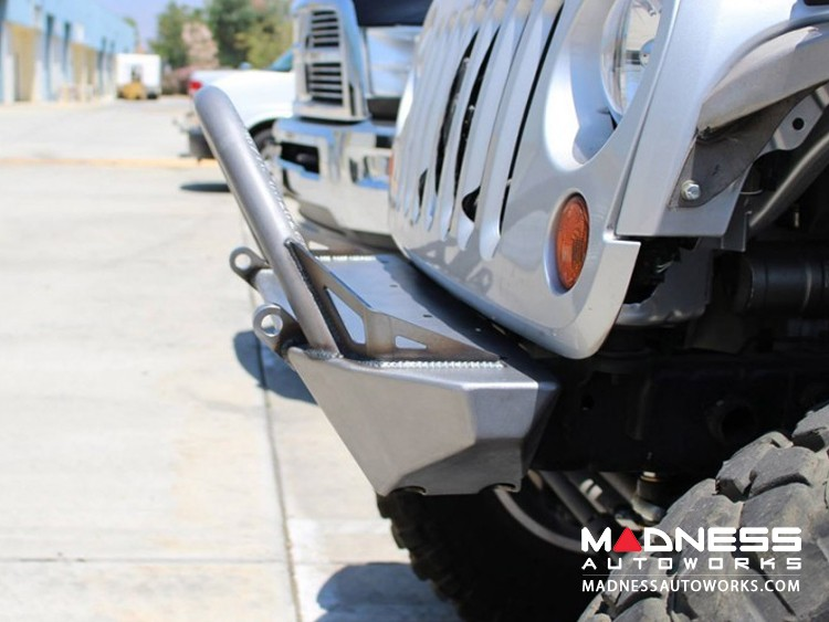 Jeep Wrangler JK by Crawler Conceptz - Skinny Series Front Bumper w/ Fogs and Tabs