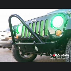 Jeep Wrangler JK by Crawler Conceptz - Skinny Series Front Bumper w/ Fogs, Stinger, and Tabs