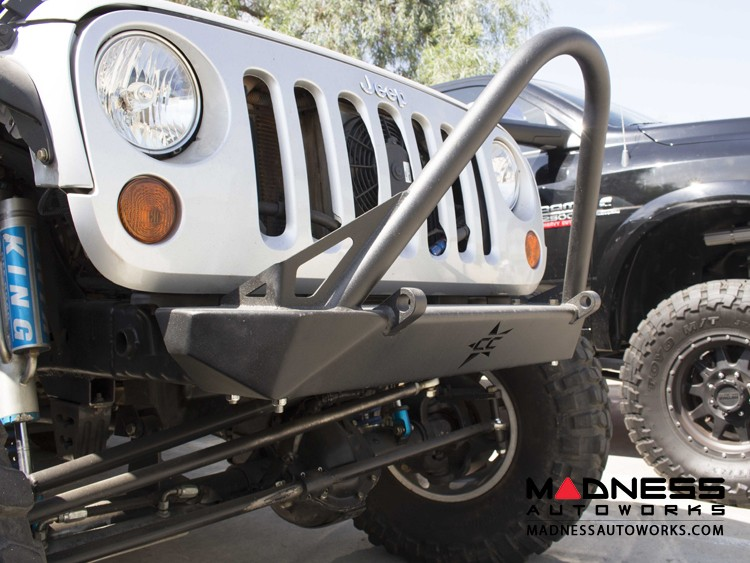 Jeep Wrangler JK by Crawler Conceptz - Skinny Series Front Bumper w/ Stinger and Tabs