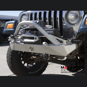 Jeep Wrangler TJ and LJ by Crawler Conceptz -  Ultra Series TJ and LJ Front Bumper with Bar & Tabs