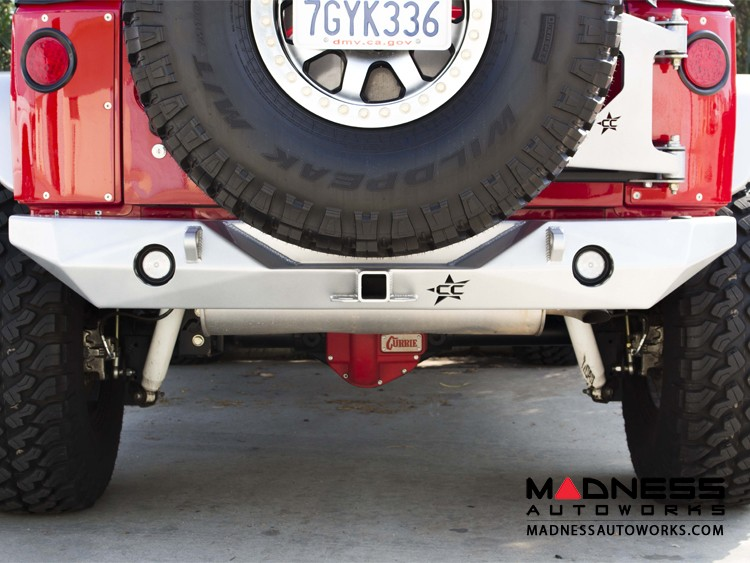 Jeep Wrangler JK by Crawler Conceptz - Ultra Series II JK Rear Bumper with Hitch and Tabs