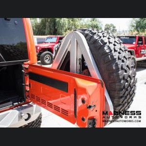 Jeep Wrangler JK by Crawler Conceptz - Ultra Series II JK Rear Bumper w/ Lights & Tire Carrier (w/ Hitch)