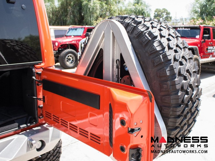 Jeep Wrangler JK by Crawler Conceptz - Ultra Series II JK Rear Bumper w/ Lights & Tire Carrier (w/ Hitch)